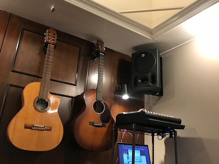 ギターとスピーカー